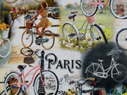 Jersey Digitaldruck Fahrräder Romantik Vintage Bikes