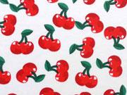 Jersey Kirschen, rot auf weiss