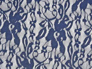 Spitze Lace Fiona Blumen, dunkelblau