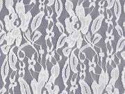 RESTSTÜCK 30 cm Spitze Lace Fiona Blumen, weiss