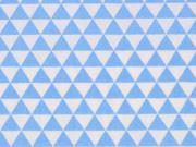 BW kleine Dreiecke, weiss/hellblau