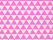 BW kleine Dreiecke, weiss/rosa