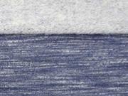 angerauter Sweat Melange - dunkelblau
