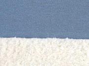 RESTSTÜCK 63cm Doubleface Jersey Fleece, rauchblau