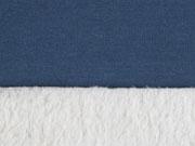 Doubleface Jersey Fleece, indigoblau