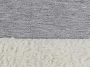 Doubleface Jersey Fleece, hellgrau melange