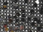 transparenter Paillettenstoff, schwarz