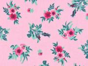 Baumwolle Rosen Bouquet, rosa