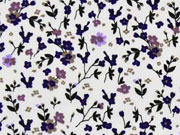 Baumwolle Blümchen, flieder lila