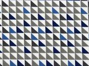 BW kleine Dreiecke, jeansblau  grau