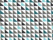 BW kleine Dreiecke, mint grau