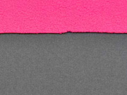 RESTSTÜCK 90 cm Softshell Jackenstoff, dunkelgrau/pink