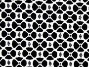elastischer Hosenstoff Rädchen schwarz weiss