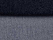 beschichteter Sweat, dunkelblau (blaugrau)
