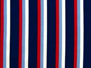Jersey Streifen,  rot weiß dunkelblau