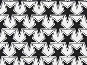Jersey Sterne, schwarz weiß