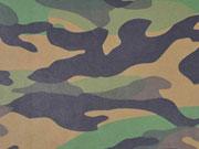 Lederimitat Camouflage - grün