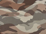 Lederimitat Camouflage - beige