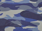 Lederimitat Camouflage - blau