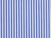 Baumwollstretch Mini Streifen, bleu