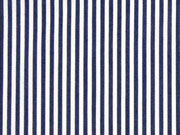 Baumwollstretch Mini Streifen, dunkelblau