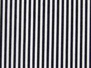 Baumwollstretch Mini Streifen, schwarz