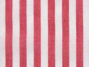 RESTSTÜCK 35 cm Viskose Blusenstoff Streifen, weiß rot