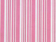 Baumwolle versch. Streifen, rosa weiß