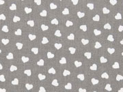 Baumwolle kleine Herzen, taupe