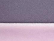 Reststück 60cm Sweat Alpenfleece uni, mauve