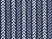RESTSTÜCK 38 cm Jersey Pfeilspitzen, indigoblau