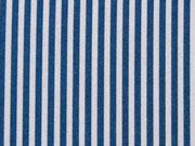 Baumwolle Streifen, hellgrau indigoblau