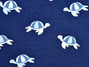 RESTSTÜCK 72 cm Jersey Schildkröten, dunkelblau