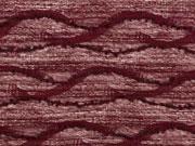 Strickstoff Wellen mit Struktur, bordeaux