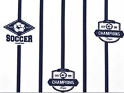 Jersey Football, weiss / dunkelblau