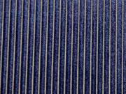 Jersey Samtstreifen,  dunkelblau