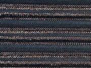 Plissee Glitzer Streifen, kupfer schwarz