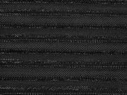 Plissee Glitzer Streifen, schwarz