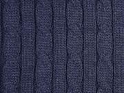 dicker Strick Zopfmuster, dunkelblau