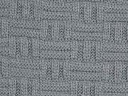 dicker Strick Stäbchen Muster, grau