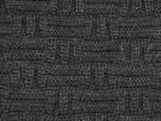 RESTSTÜCK 75cm dicker Strick Stäbchen Muster, anthrazit
