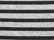 Sweat Alpenfleece Streifen, schwarz