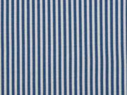 Jersey Streifen schmal, jeanblau grau