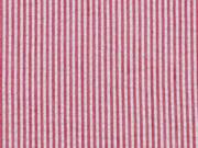 RESTSTÜCK 78 cm Seersucker Streifen, weiß rot