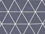 Jersey Linien & Dreiecke,  weiß grau