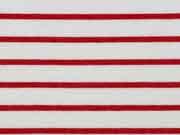 Allegra Viskose Jersey, rot weiß
