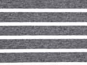 Allegra Viskose Jersey Streifen, weiß grau