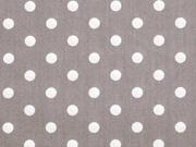 Baumwolle Punkte 7 mm, weiss taupe