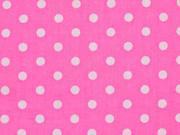 RESTSTÜCK 45 cm Baumwollstoff Punkte 7 mm, weiss rosa