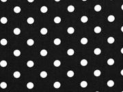 Baumwolle Punkte 7 mm, weiss schwarz
